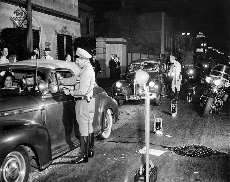 1944 CHP vehicle inspection stop