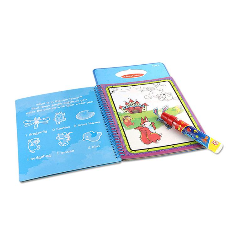 Cheap Drawing Toys, Buy Directly from China Suppliers:   The book is Colorful and durable,non-toxic and ink-free.A Perfect travel toy and indoor toy for kids.Stimulate kids p