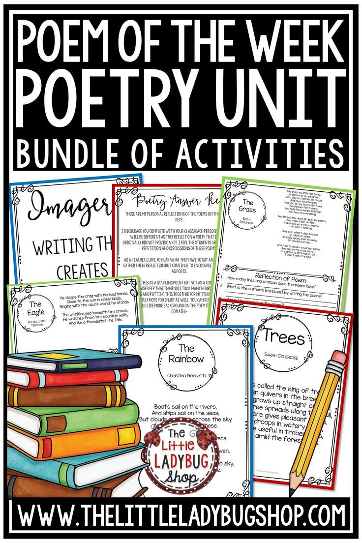 hight resolution of Poem of the Week: Poetry Unit Digital Reading Comprehension Passages \u0026  Questions   Poetry unit