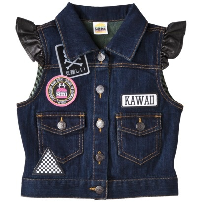Harajuku Mini for Target® Girls' Sleeveless Vest -  Indigo.Opens in a new window