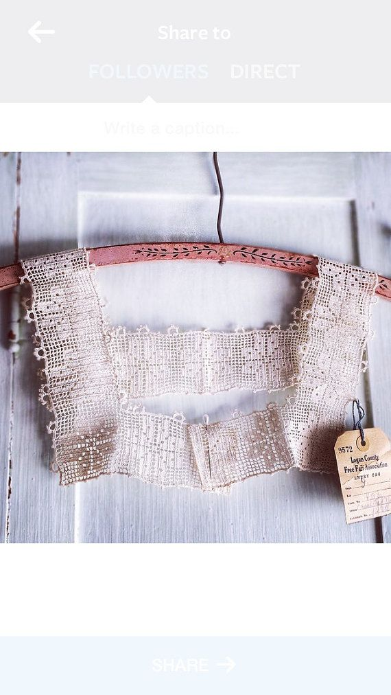Vintage Crocheted Yoke Fair Needlework Entry by veraviola on Etsy
