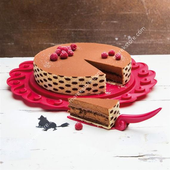 Patera podstawka na tort czerwona Tortella KZ-3628583