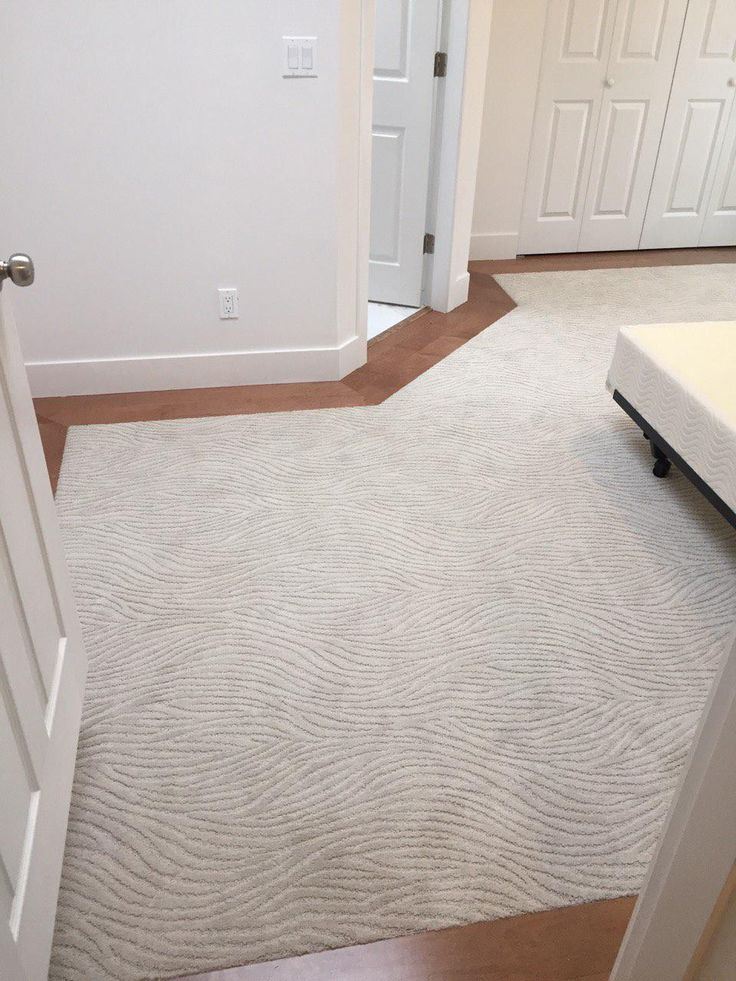 Mohawk Dramatic Flair In Hushed Beige Carpet Maple Hardwood Floor Border Master Bedroom