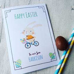 Personalised Easter Bunny Son Card