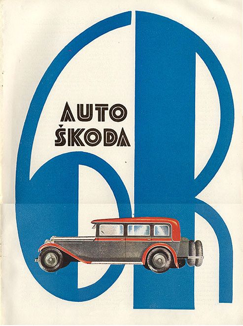 "Advertisement for Auto Skoda from the Czech magazine ""Salon,"" 1929."