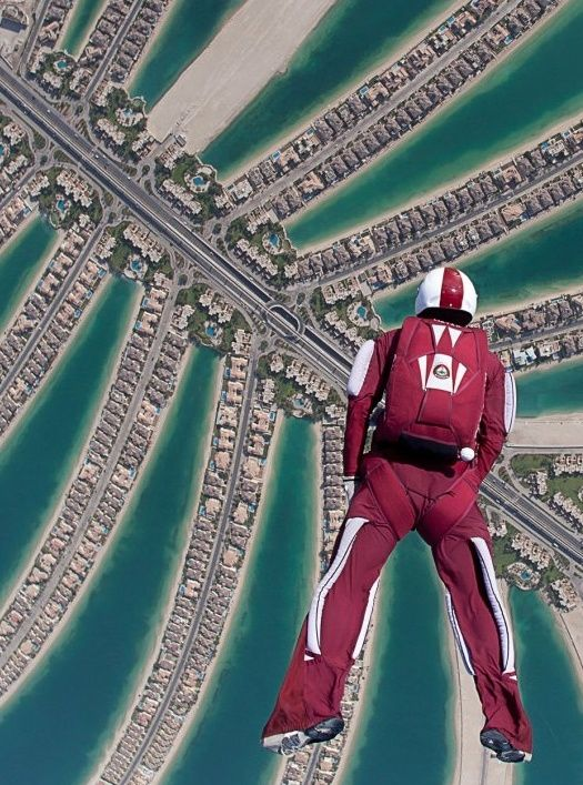 Skydive over The Palm Jumeirah Island in Dubai