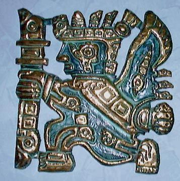 An artifact used in ceremonial sacrifices of the Mochica-Chimu cultures. Coastal Peru.