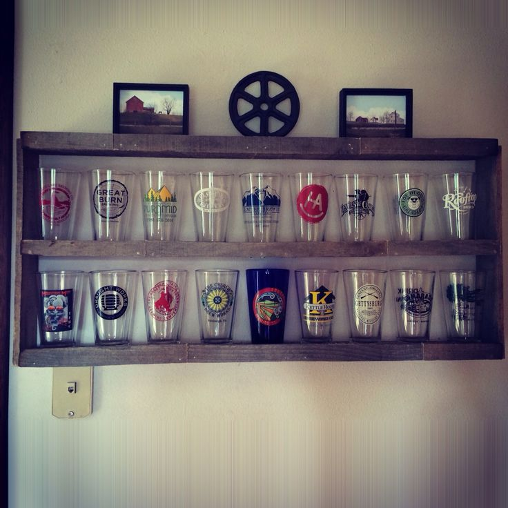 Pallet Pint Glass Shelf