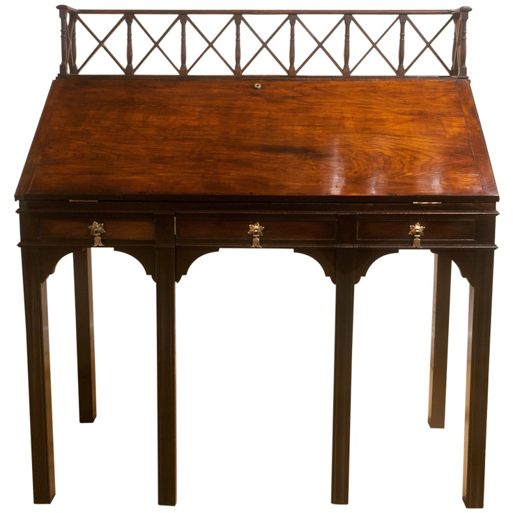 English Fall Front Mahogany Desk Circa 1800