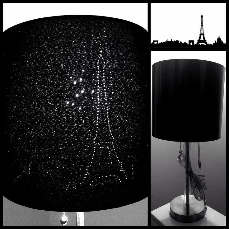 DIY Paris Skyline Eiffel Tower Lampshade