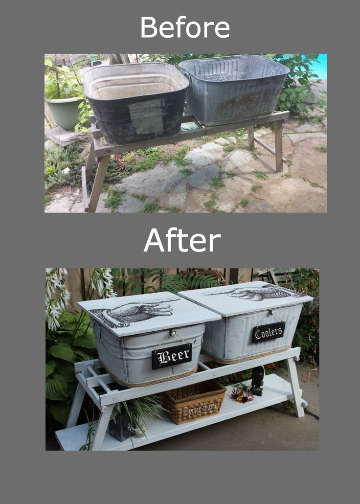 Who knew old wash bins could be so chic? I would love to have these in my backyard :) See how she did it here!  >>