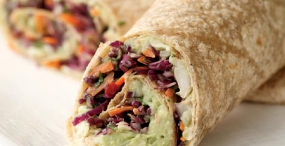Creamy Avocado & White Bean WrapHealthy Meals, White Beans, Creamy Avocado, Wraps Recipe, Avocado Recipe, Vegetarian Lunches, Healthy Recipe, Mr. Beans, Beans Wraps