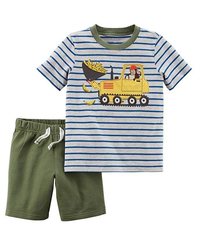 7b506f612c7c Amazon.com  Carter s Baby Boys  2 Piece Little Shorts Set 9 Months ...