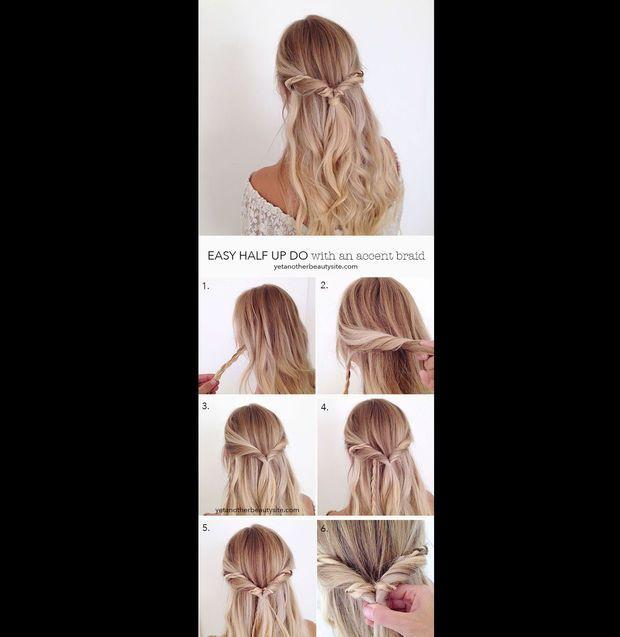 Der Easy Half Updo: Diese halb-hochgesteckte Frisur sieht schwerer aus als sie ist. Eine echte Sensation