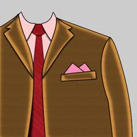 Two Point Pocket Square