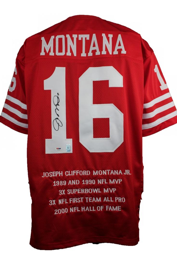 ICON Authentic - Joe Montana Signed San Francisco 49ers Stat Jersey PSA, $399.00 (http://www.iconauthentic.com/joe-montana-signed-san-francisco-49ers-stat-jersey-psa/)