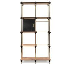 Blake is our modular shelf system and it is easily customizable to any measures you need. The specially made marble doors use with a lightweight core that convey solidity and looks to this glaring piece.