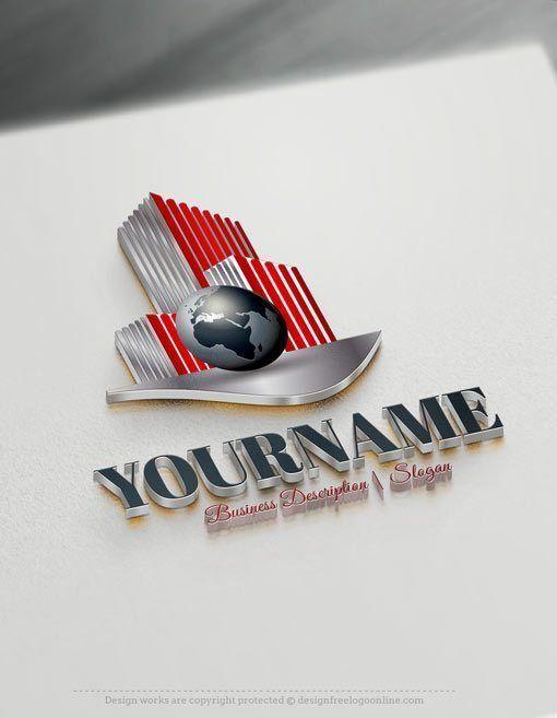 Design Free Logo: Online Real Estate Globe logo
