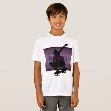HAMbWG - T Shirt - Amethyst SkateBoarder  $20.50  by HamByWhiteGlove  - cyo diy customize personalize unique