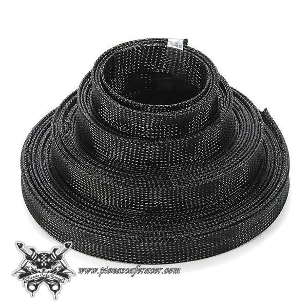 Cable Expandible / Franela 6mm Para Cableado de Coche Moto Color Negro Diferentes Tamaños -- 1,81€