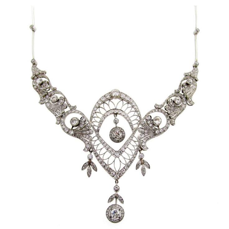 Exquisite edwardianische Diamantkette