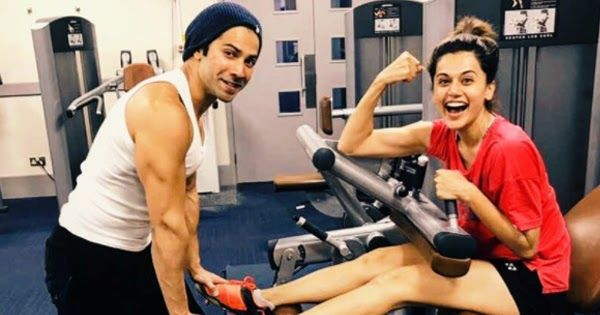 "Varun Dhawan shared a picture of him and his co-star from Judwaa 2 Taapse Pannu on Instagram where the former seems to be helping the latter work out for their upcoming movie Judwaa 2. He shared the picture and said ""training #judwaa2.""  Varun Dhawan is seen training Taapsee and the two seem to be having fun. These actors are taking their work quite seriously and are quite excited for Judwaa 2.  Varun Dhawan will be playing a double role in this movie. Judwaa 2 also stars Jacqueline…"