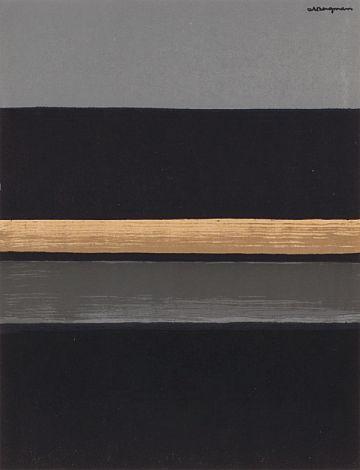 "Anna-Eva Bergman, Litografi ""sort horisont"" 1970"