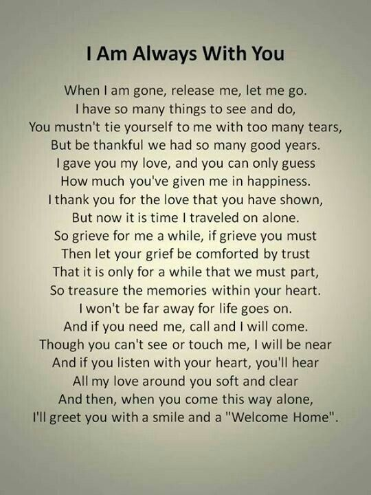 I Am Always With You Poems Pinterest Quotes Miss You And Poems