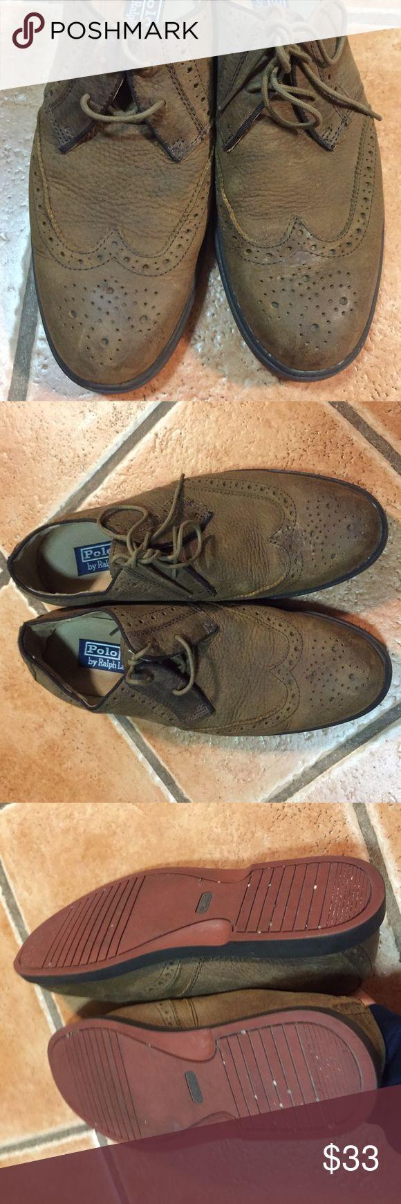 Polo Ralph Lauren Sz 8.5 orrick wingtip shoes Great condition all leather except for minor deform due to storage Polo by Ralph Lauren Shoes Oxfords & Derbys