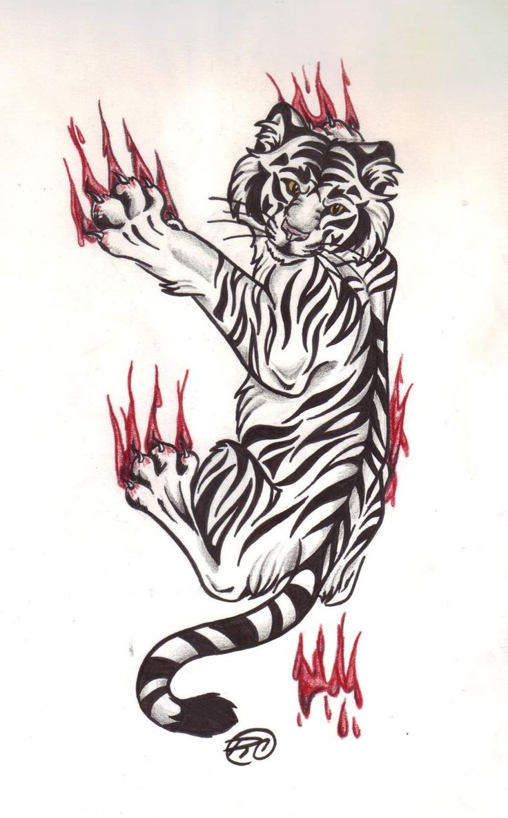 Tigger tattoo designs - Like The Tiger Design Not So Much The Clawing And Blood Though
