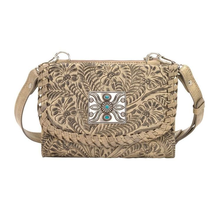 Texas Two Step Small Crossbody Bag/Wallet - Sand
