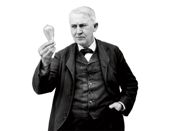 Canadian inventors Henry Woodward and Mathew Evans file a patent for an incandescent lightbulb that consists of carbon rods in a nitrogen-filled glass cylinder. They sell the patent to some guy named Thomas Edison in 1879