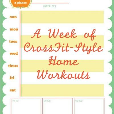 A week of at home workouts!