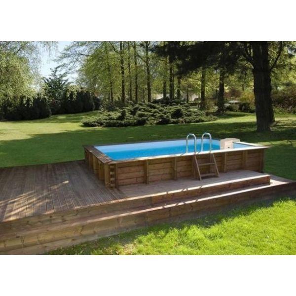 """Une piscine semi-enterrée en kit coûtera moins cher qu'une piscine classique.<span class=""""normal italic petit"""">© Sunbay</span>"""