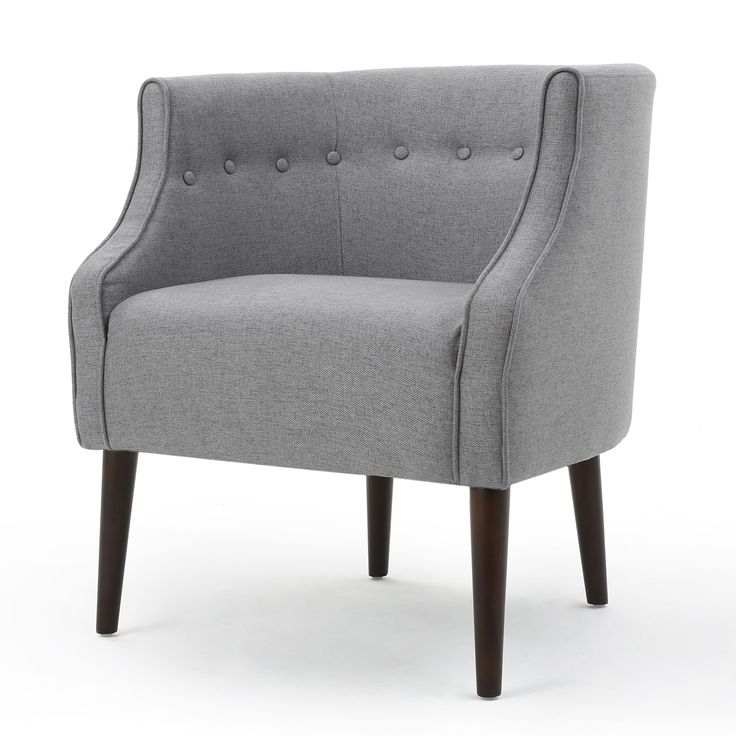 Best Bethany Gray Tufted Chair Upholstered Accent Chairs 400 x 300
