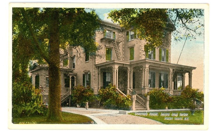 Sailors Snug Harbor Staten Island NY Governors House Mansion Postcard | eBay