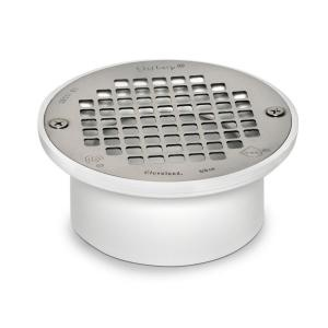 PVC Snap In General Purpose Floor Drain With 5 In. Strainer For PVC Piping  | Floor Drains