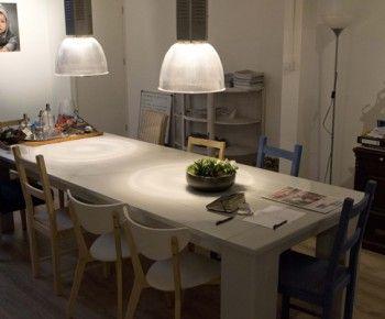 Eettafel steigerhout hoogglans wit