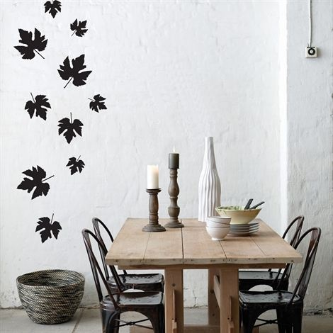 Falling leaves wall decoration