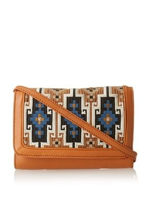 57% OFF Isabella Fiore Women's Leah Eastern Weave Cross-Body, Henna