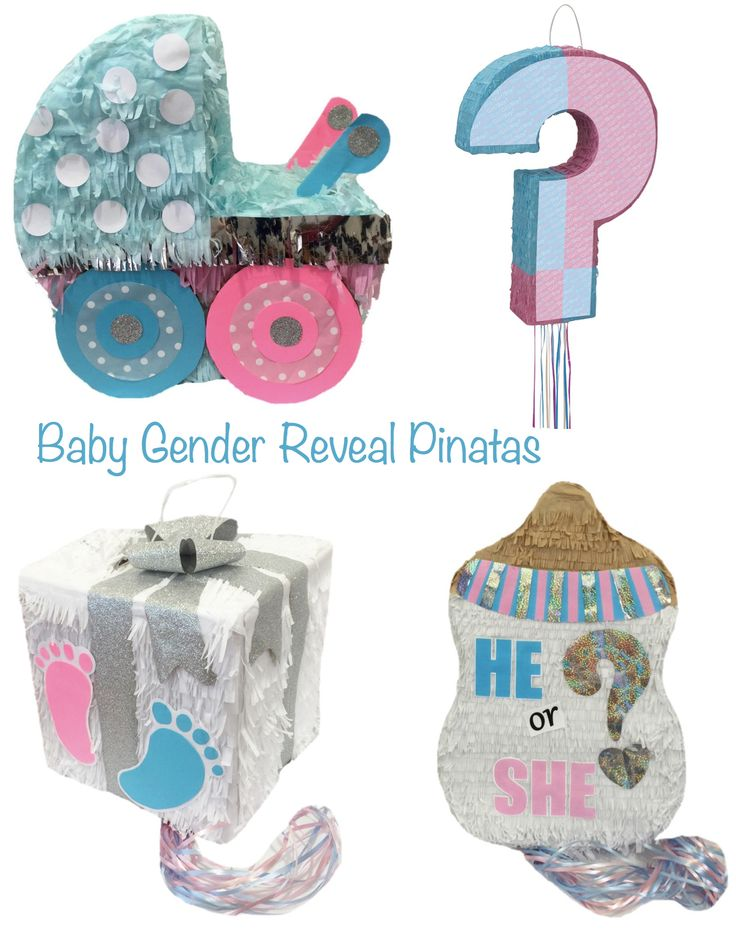 10 Baby Gender Reveal Party Ideas | Baby Shower >> Baby Gender Reveal Pinatas