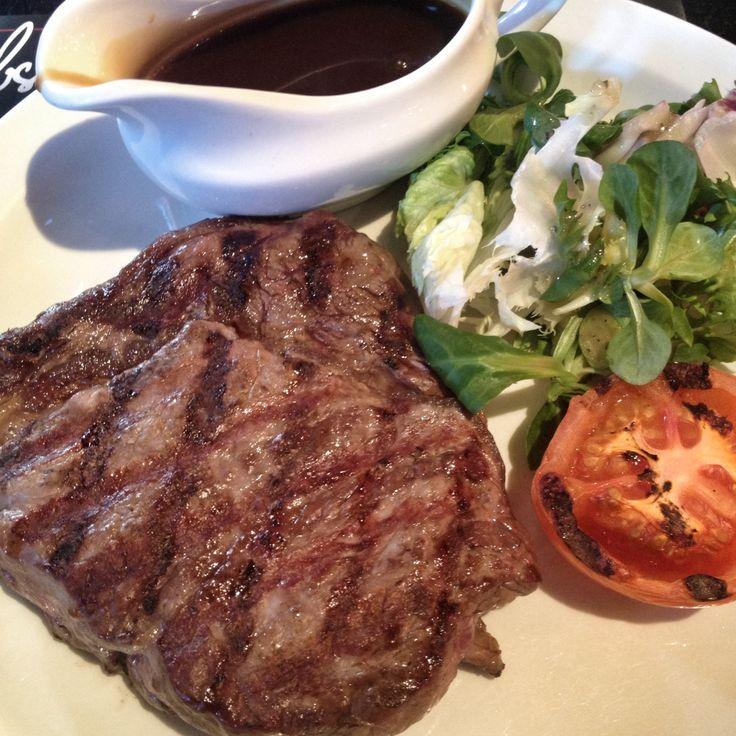 Medium rare Rib Eye steak at Agnus Steakhouse. London. February '14