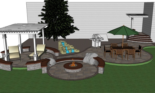 Multi level patio