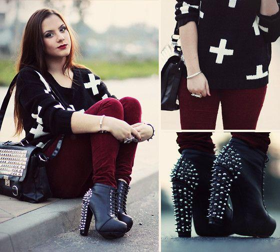 C&A Cross Pattern Sweater