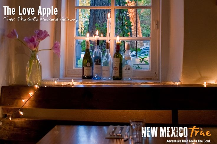 Love Apple focuses on local and organic food that doesn't sacrifice on taste and is served up in a romantic atmosphere. We cannot recommend this restaurant highly enough. The food and wine list is simply phenomenal; you cannot go wrong whatever you choose. We definitely recommend starting with the homemade cornbread. Love Apple is housed in what was once known as the Placitas Chapel, which was built around the 1800's and was in operation for 100 years.