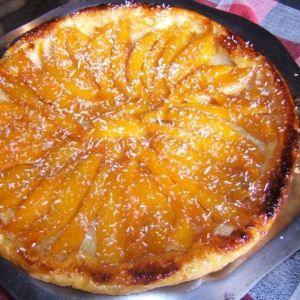 Tarte tatin à la créole  ( mangue et noix de coco)