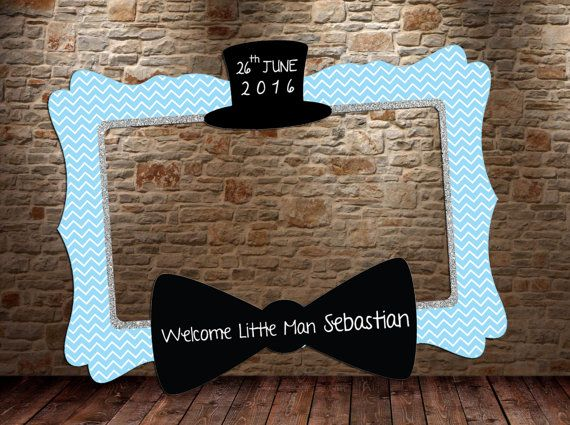 Little Man photo booth frame DIGITAL FILE Little Man by htcknit