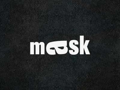 mask playing with type 20 Smart Logos Using Negative Space