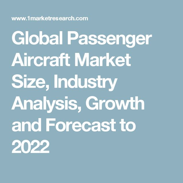 Global Passenger Aircraft Market Size, Industry Analysis, Growth and Forecast to 2022