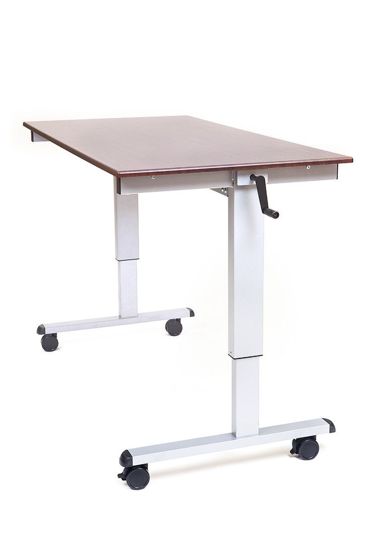 Varidesk exec 40 review varidesk pro desk 60 darkwood review workfit t - Luxor Stand Up Desk Crank Adjustable The Luxor Innovative Sit To Stand Adjustable Crank Desk It S Easy To Achieve Long Lasting Health